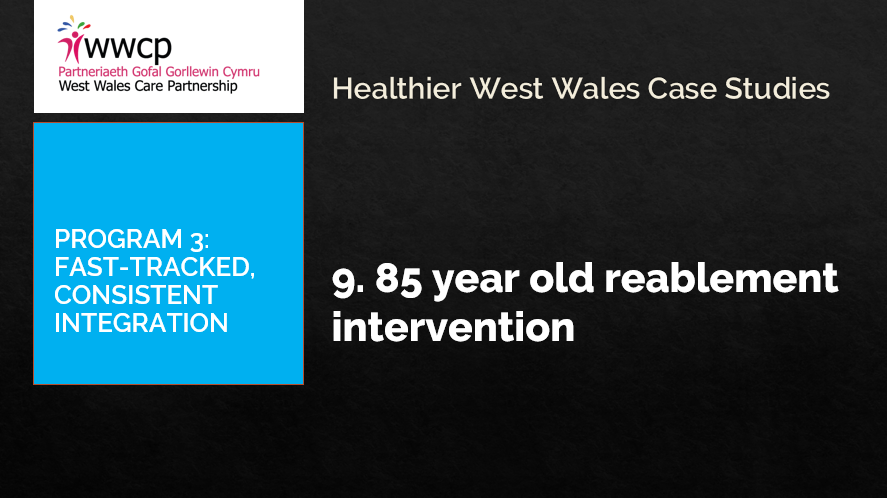 85 year old reablement intervention